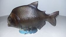 ANTIQUE FRENCH MAJOLICA FISH - AMUSANT POISSON EN BARBOTINE