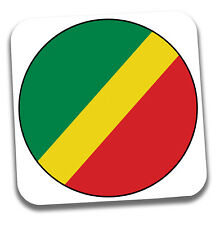 Republic Of The Congo Flag Drinks Coaster - Gift - Birthday - Stocking Filler