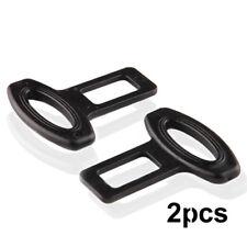 2Pcs Clasp Plug Car Auto Seat Belt Extender Safe Buckle Clip  Alarm Stopper Set
