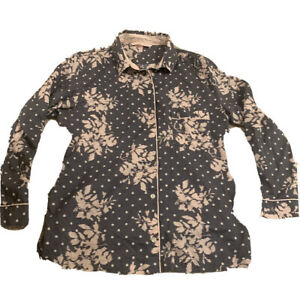 Victorias Secret Button Up Night Shirt Pajama Top SP NWOT
