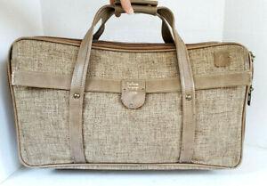 Hartmann Duffel Bag Carry-On Tweed Brown Weekender Luggage Lock Travel Tote