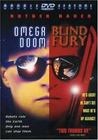 Blind Fury/Omega Doom (DVD, 2000, Double Feature) Rutger Hauer