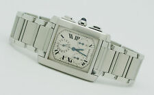 Cartier Tank Francaise Chronoflex 2303 Stainless Steel Men's Watch