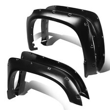 "FOR 14-17 TUNDRA TEXTURED BLACK THERMO ABS WHEEL FENDER FLARES SET 1.75""COVER"