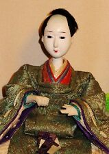 """Antique Pre-1920 Japanese Seated 4.5"""" Male Musician Hina Doll AAD4161415.10"""