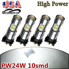 4x PW24W 2835 6000K White LED Daytime Running Light Bulb DRL For BMW F30 3Series