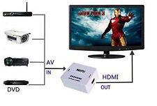 Mini  AV CVBS 3RCA to HDMI Video Converter Adapter For TV/PC/PS3/DVD