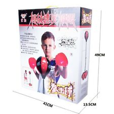 Kids Full Boxing Punching Kit with Punching Bag Gloves Adjustable Stand -  105cm
