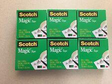 Lot of 6 Scotch Magic Tape Refills New