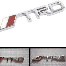 1 Silver 3D Toyota TRD Race Development Logo Decal/Badge/Adhesive/Supra/Celica