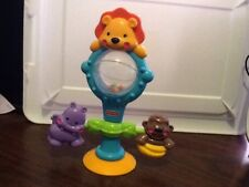 Fisher Price Jungle Lion Monkey Hippo High Chair Suction Cup Activity Baby Toy