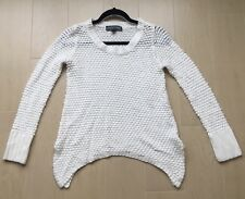 Almost Famous Cream Knit Sweater Women's Size Medium EUC
