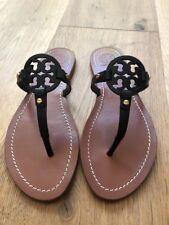 1e6ddef15766be NWB Tory Burch Mini Miller Veg Leather Thong Sandals Black Size 7.5