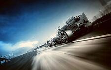 Incorniciato stampa-formula 1 RACE CAR Nero e Bianco con blu (F1 PICTURE POSTER)