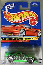 Hot Wheels 1:64 Scale 1997 Tattoo Machines Series '93 CAMARO (3 SPOKES)
