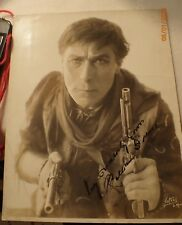 Silent Movie Cowboy Star William S. Hart Signed Photograph, Gun Fighter