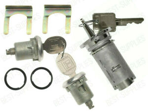 Chrome Ignition Key Switch Cylinder & Door Lock Pair Set W/ Keys for Chevrolet