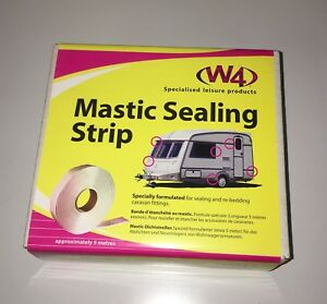 CARAVAN / MOTORHOME - GREY Mastic Sealing Strip 2.5mm Thick X 32mm Wide X 5 Mtr
