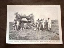 Colonia agricola in Eritrea nel 1894 Celebrazione di una messa Africa