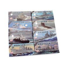 4D Pla Blu Navy 8 Pezzi Set Nave da Guerra Modello Militare Collezioni