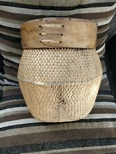 VINTAGE WICKER / RATTAN  BASKET