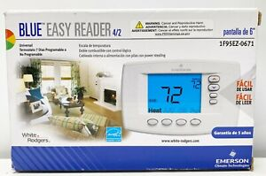 Emerson Easy-Reader 7-Day Programmable Thermostat Contents Sealed 1F95EZ-0671