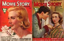 Douglas Fairbanks Jr 1938 Movie Story Magazine Lot of 2 ~ Ginger Rogers