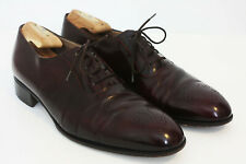 "Bally ""Bilbao"" Oxford Dress Shoes Perf Toe Oxblood Vintage Made Italy Men's 10"