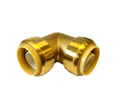 Libra Supply 1 inch, 1'' Push-Fit 90 Degree Brass Elbow, push to connect, 5 pcs