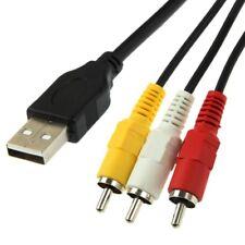 Adattatore Convertitore Cavo da USB maschio a RCA Lunghezza 1,5 m Video AV A/V