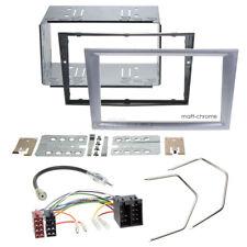 Autoradio Einbauset 2-DIN Opel Vivaro 01-10 Kabel Einbaurahmen matt-chrome