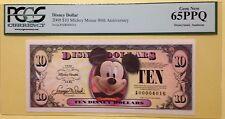 2008A Big Head Mickey $10 Disney Dollar Graded By PCGS Gem New 65PPQ A00004016