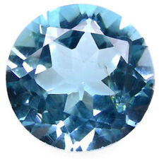 5,71 ct Swiss Blue Topaze - Round Concave cut - VVS - origin Brazil
