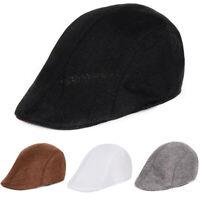 Wool Herringbone Newsboy Cap Ivy Hat Golf Mens Flat Stripe ME Cw