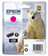 Epson 26XL T2633 Magenta Polar Bear Ink Cartridge, T263340 XP-625 XP-810 XP-800