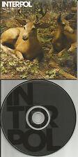 INTERPOL No I In Threesome w/ RARE RADIO EDIT PROMO Radio DJ CD single 2007