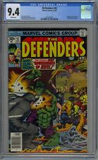 Defenders #42 CGC 9.4 NM Wp Marvel Comics 1976 Hulk Vs. Rhino Battle Cover RARE