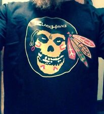Chicago Blackhawks Misfits Punk Hockey 2XL T Shirt Ltd Ed Danzig Black Riot Fest