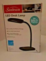 Sunbeam LED Desk Lamp 3 Touch Dimming Flexible Rotating Light Energy Star BLACK