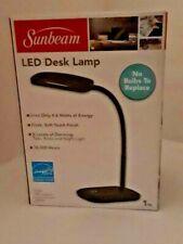 Sunbeam LED Desk Lamp 3 Touch Dimming Flexible Rotating Light Energy Star BLACK