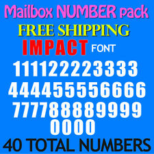 Mailbox NUMBER Decals IMPACT ALL SIZES 1/2