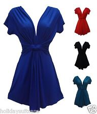 Ladies womans plus size long summer knot top 12-26 UK evening holiday party xmas