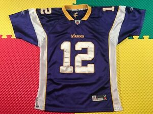 Percy Harvin Minnesota Vikings #12 Reebok Purple Sewn Jersey Youth Size Med