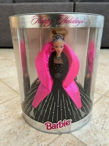 NEW IN BOX 1998 BARBIE HAPPY HOLIDAYS CHRISTMAS SPECIAL EDITION BLACK DRESS DOLL