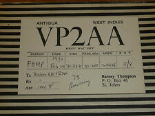 QSL CARD CARTE RADIO antigua west indies