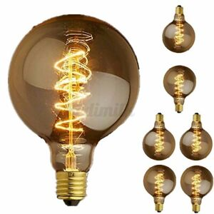 110V 60W G80 E27 Vintage Retro Edison Light Bulb Tungsten Lamp Incandescent