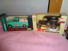 Diecast Toy Bank ERTL ~ 1994 Ace Hardware / 1993 Tru Value (1/25 scale)