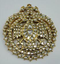 22K Gold Diamond Polki Kundan Pendant Necklace 13034