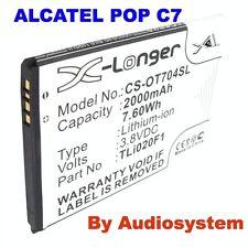 BATTERIA 2000Mah PER ALCATEL ONE TOUCH POP C7 7041 TLi020A1 TLi020F1 3,8V 2A
