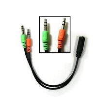Cuffie Microfono Cavo Splitter Y Adattatore 3.5 mm Auricolari Piombo Maschio-Donna
